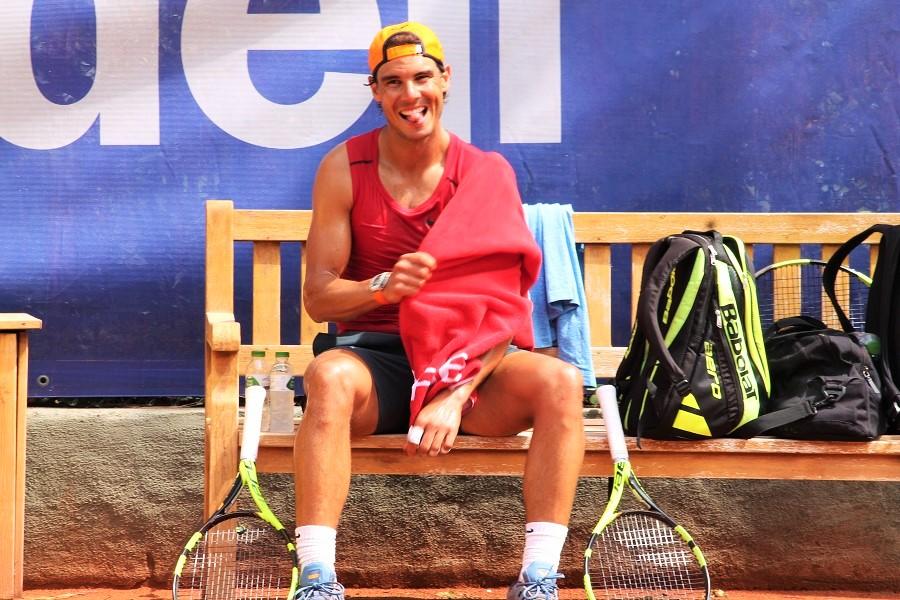 Rafael Nadal à l'entraînement lors du récent tournoi ATP 500 de Barcelone / ©SoTennis