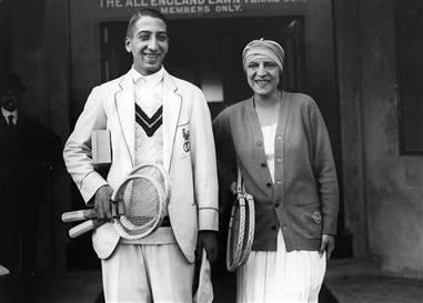 Suzanne Lenglen et René Lacoste