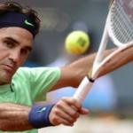 Federer est tombé sur terre