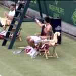 Djokovic et Dimitrov imitent Sharapova