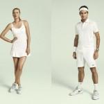 Federer, Sharapova,tout de blanc vêtus