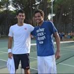 Novak Djokovic à l'entrainement en Corse