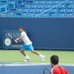 Federer à l'entraînement à Cincinnati