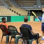 Coupe Davis: les Bleus à l'entraînement