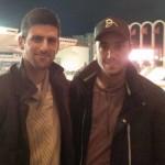Novak Djokovic fan de foot