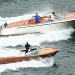 """Federer et Hewitt sur des """"speed boats"""""""