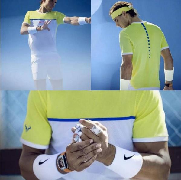 Tenue Nike Rafael Nadal Open d'Australie 2016. ©Nike