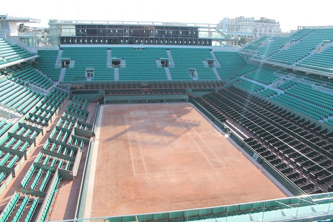 Court central Roland-Garros avant réfection