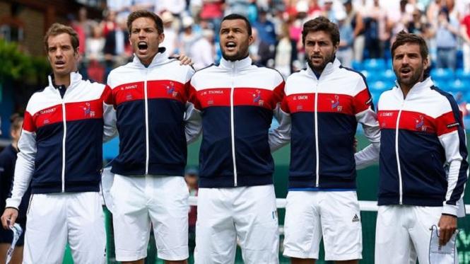 L'Equipe de France de Coupe Davis Queen's 2015