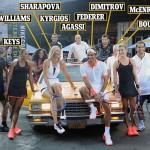 "Des légendes au ""NYC Street Tennis"""