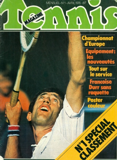 Tennis Magazine n°1 avril 1976. ©TennisMagazine