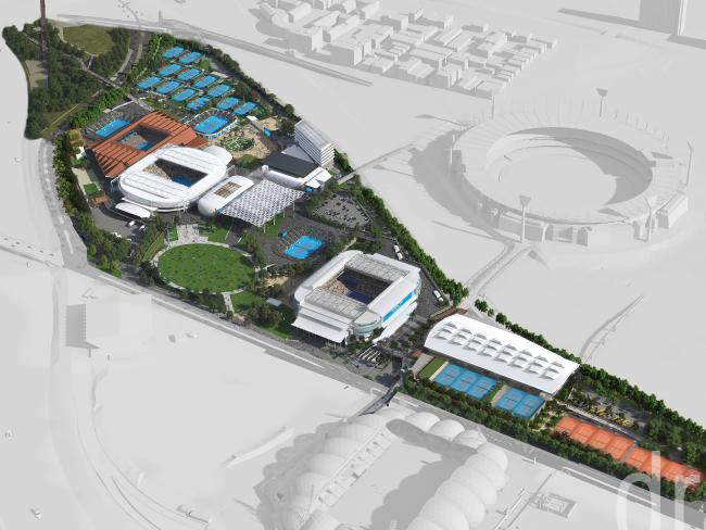 An overall design of the revamped Melbourne Park