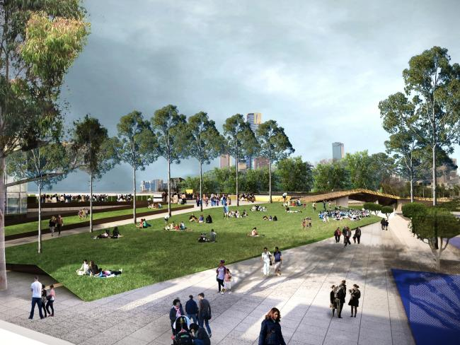 Green space and concourses linking different facilities are a big part of the new plans