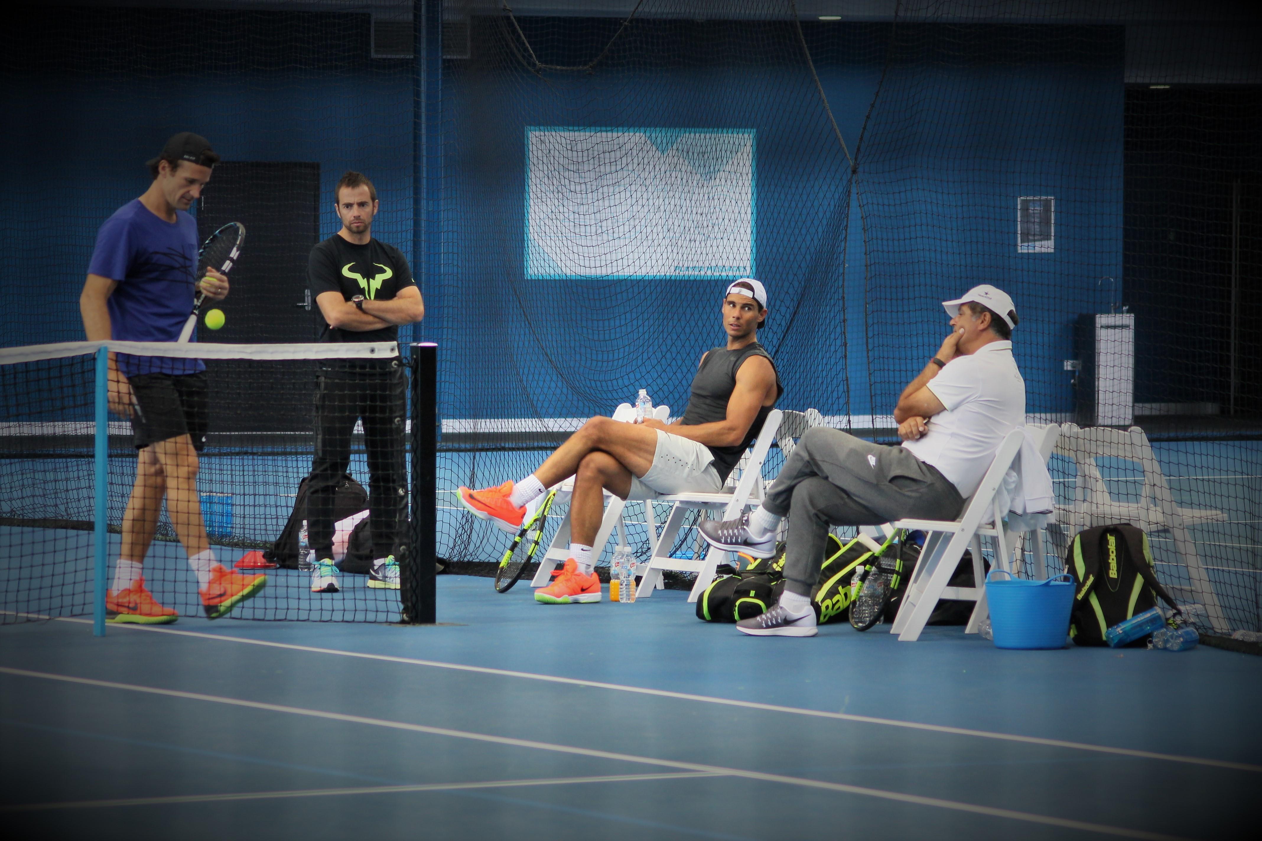Rafael Nadal à l'entraînement lors du dernier Open d'Australie / ©SoTennis