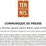 FFT: Jérémy Botton quitte la Fédération