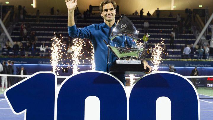 Roger  Federer, la centième rugissante