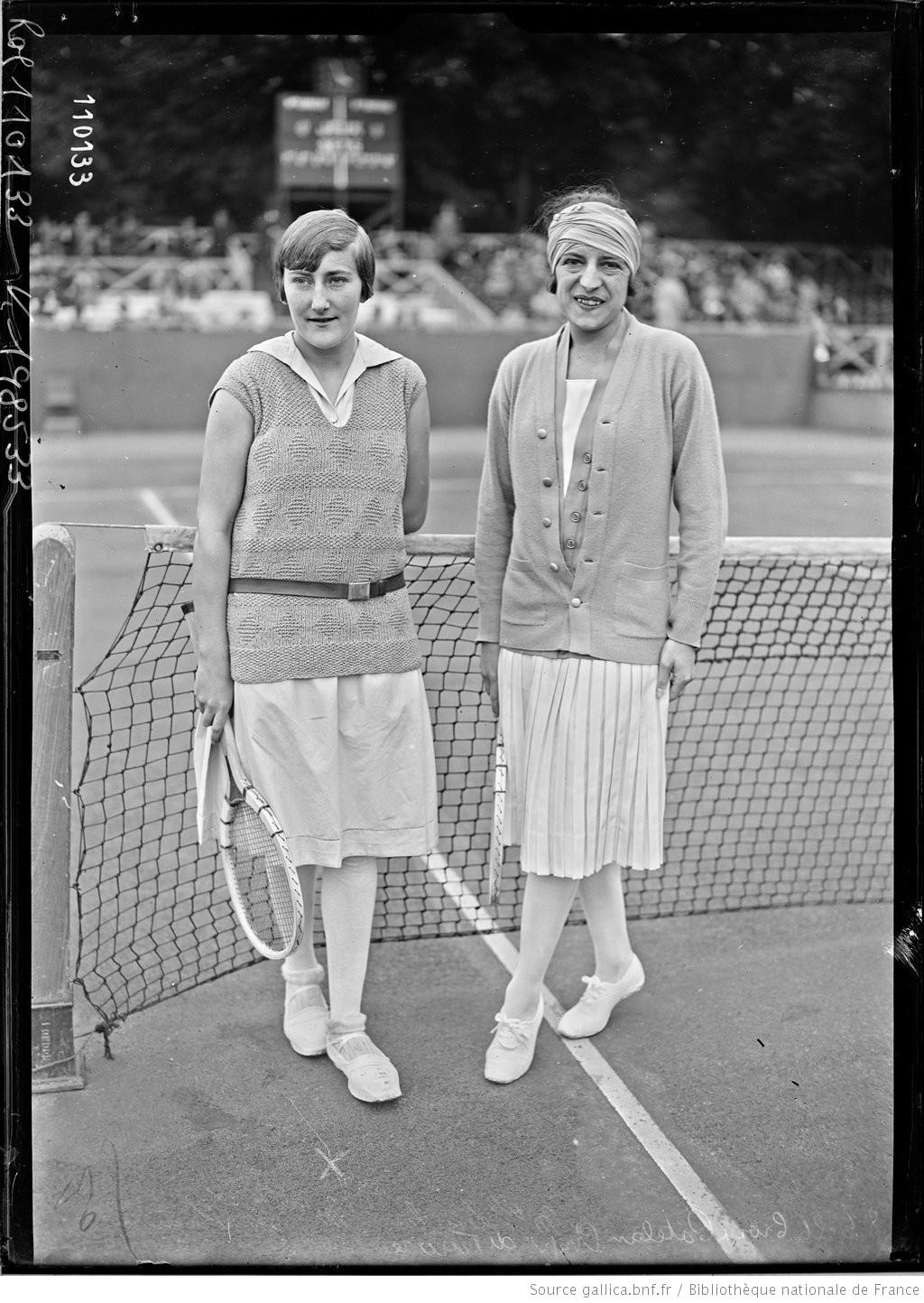 Simonne Mathieu et Suzanne Lenglen en 1926